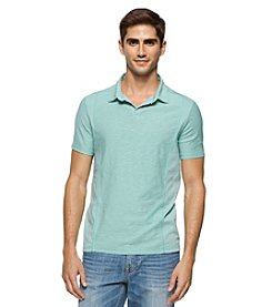 Calvin Klein Jeans® Men's Mixed Media Johnny Collar Short Sleeve Polo