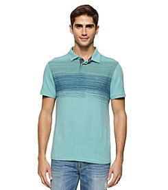 Calvin Klein Jeans® Men's Static Stripe Slub Short Sleeve Polo