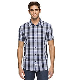 Calvin Klein Jeans® Men's Open Space Check Short Sleeve Button Down Shirt