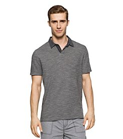 Calvin Klein Jeans Men's Slub Pique Denim Short Sleeve Polo