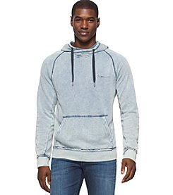 Calvin Klein Jeans Men's Bleach Wash Long Sleeve Hoodie