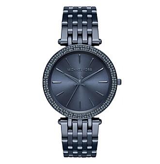 Michael Kors® Women's Darci Navy IP Three Hand Watch