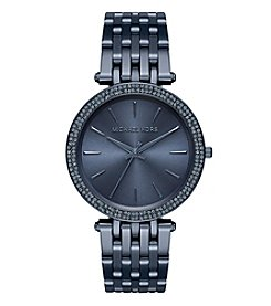 Michael Kors® Women's Darci Navy IP Three Hand Watch