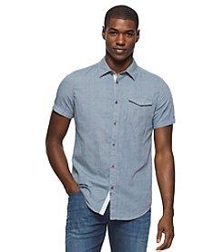 Calvin Klein Jeans® Men's Dot Print Short Sleeve Button Down Shirt
