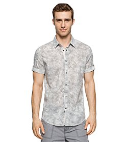Calvin Klein Jeans® Men's Random Wash Print Short Sleeve Button Down Shirt
