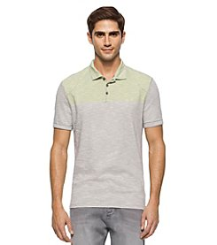 Calvin Klein Jeans® Men's End On End Colorblock Slub Short Sleeve Polo Shirt