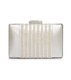La Regale® Beaded Detail Minaudiere Clutch