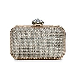 La Regale® Iridescent Metal Screen Textured Minaudiere Clutch