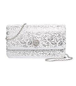 La Regale® Shimmer Jacquard Flap Clutch