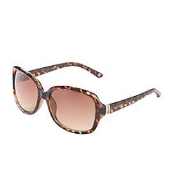 Nine West® Rectangular Plastic Sunglasses