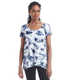 Calvin Klein Performance Scoop Neck Tie Dye Tee