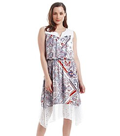 Oneworld® Lace Hem Sharkbite Dress