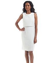 Calvin Klein Window Panel Double Layer Dress