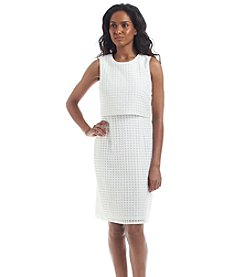Calvin Klein Window Panel Double Layer Dress