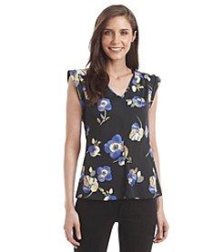 Nine West® Floral V-Neck Top