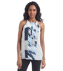 Calvin Klein Mixed Print Halter Top