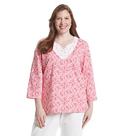 Alfred Dunner® Plus Size Acapulco Octopus Print Knit Top