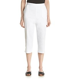 Alfred Dunner® White Now Lace Trim Capri