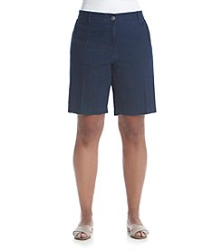 Studio Works® Plus Size Denim Poplin Shorts