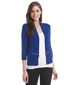 Ivanka Trump® Open Side Zipper Sweater