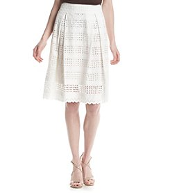Ivanka Trump® Eyelet Cotton Skirt