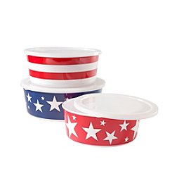 LivingQuarters Americana Collection Nested Bowls