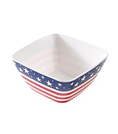 LivingQuarters Americana Collection Cereal Bowl