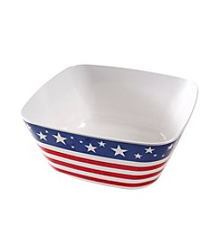 LivingQuarters Americana Collection Serving Bowl