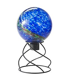 LivingQuarters Solar Globe With Stand Gift Set
