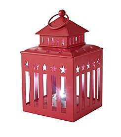 LivingQuarters Americana Collection Red LED Lantern