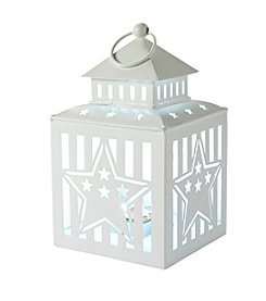 LivingQuarters Americana Collection White LED Lantern