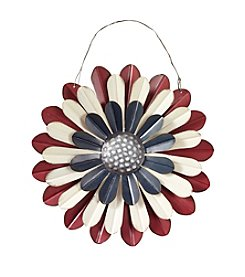 LivingQuarters Americana Collection Metal Flower