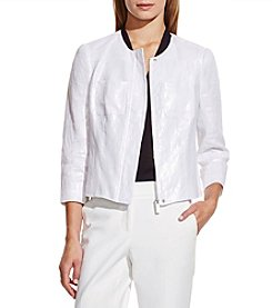 Vince Camuto® Collarless Foiled Blazer