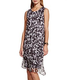 Vince Camuto® Broken Prism With Chiffon Overlay Dress