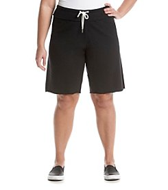 Calvin Klein Performance Plus Size Solid Knit Shorts