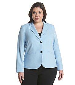 Calvin Klein Plus Size Two Button Lux Jacket
