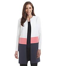 Anne Klein® Color Block Coat