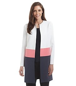 Anne Klein® Color Block Coat