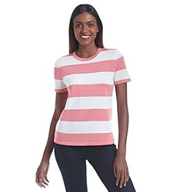 Anne Klein® Striped Sweater Top
