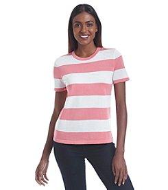 Anne Klein® Striped Sweater Top