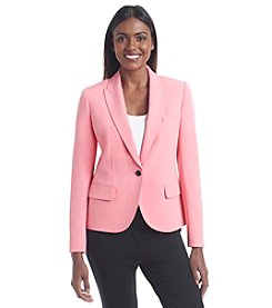 Anne Klein® One Button Crepe Blazer