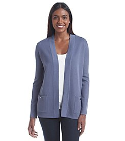 Anne Klein® Two Pocket Open Cardigan