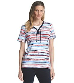Breckenridge® Stripe Layered Look Tee