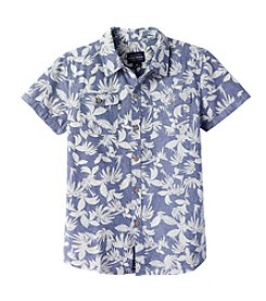 Lucky Brand® Boys' 8-20 Short Sleeve Patterned Button Down Shirt