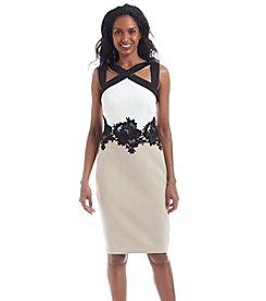JAX® Lace Detail Sheath Dress