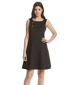 Jessica Simpson Scuba Fit And Flare Dress
