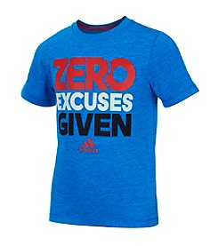 adidas® Boys' 2T-7 Short Sleeve Zero Excuses Tee