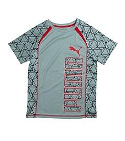 PUMA® Boys' 8-20 Short Sleeve Printed Raglan Logo Tee