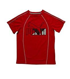 PUMA® Boys' 8-20 Short Sleeve Raglan Logo Tee