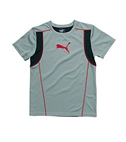 PUMA® Boys' 8-20 Short Sleeve Blocked Tee